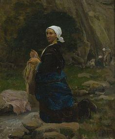 Jules Breton (1827–1906) - Washerwoman in Brittany, 1865