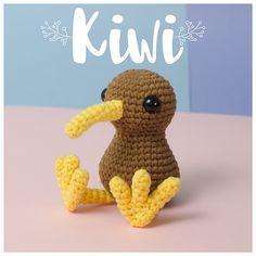 Ravelry: Kiwi amigurumi bird pattern by Paula Fuentes - Onpoki