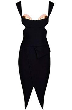 Dream it Wear it - Cut Out Asymmetrical Midi Bandage Dress Black, $122.70 (http://www.dreamitwearit.com/cut-out-asymmetrical-midi-bandage-dress-black/)
