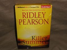 KILLER SUMMER ~ by Ridley Pearson - Unabridged 8-CD's. Sun Valley, Idaho – playground of the wealthy and politically connected – is home to an annual wine auction that attracts high rollers from across the country, and Blaine County sheriff Walt Fleming must ensure it goes on without a hitch. The world's most elite wine connoisseurs have descended on Sun Valley to taste and bid on the world's best wines, including three bottles said to have been a gift from Thomas Jefferson to John Adams…