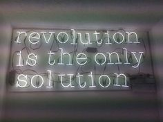 Revolution is the only Solution.  #BernieSanders #FeelTheBern #PoliticalRevolution