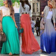 Faldas largas de colores #summer