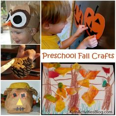 Several ideas of Preschool-fall-crafts, sure to make your kids afternoon!