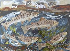 """Trout Beck"" by Mark Hearld"