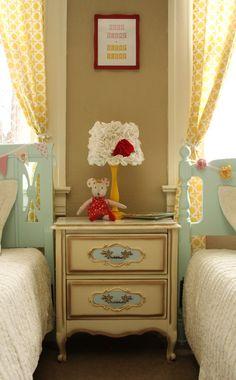 Vintage Charm Shared Girls Bedroom- Design Dazzle