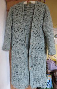 Ladies Cardigan Knitting Patterns, Crochet Coat, Crochet Cardigan Pattern, Crochet Jacket, Crochet Blouse, Crochet Clothes, Sewing Paterns, Crochet Stitches Patterns, Jacket Pattern
