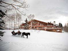 Escape to top vacation spot Stein Eriksen Lodge in Park City, Utah.