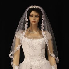 Womens Bridal Veil - Style 3007-200 with Comb $48.00