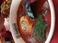 Jigoku ramen, this spicy ramen can burn your mouth for spicy lovers, choose your spicy level. Only in Ramen38, at SuTos, surabaya-east java, indonesia