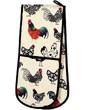 Rooster Double Oven Glove by Ulster Weavers