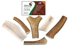 Whole   Split Elk Antlers for Dogs – 20 oz combo pack - Grade A Premium Antlers for Small to Medium sized dogs – No Mess, No Odor – – Made in the USA * See this great product. (This is an affiliate link) #DogTreats