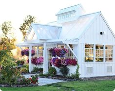 This is a beautiful greenhouse! This woman lives on a bunch of dream land. Old farm house fixed up pond greenhouse fresh air potager garden everything. Greenhouse Farming, Greenhouse Ideas, Greenhouse House, Indoor Greenhouse, Homemade Greenhouse, Cheap Greenhouse, Pallet Greenhouse, Greenhouse Wedding, English Cottage