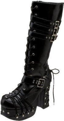 2fad2b7f2f6 Demonia by Pleaser Women s Charade-206 Lace-Up Boot
