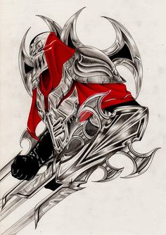 Here it is, a League of Legend Champion, The Shadow Master. Made with markers and pen, take me a long time to do it. Made for a Friend, hope you like it!!