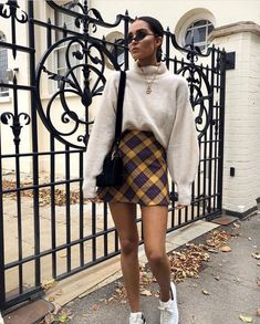 Plaid Skirt Outfit Gallery sweater plaid skirt casual in 2019 fashion outfits Plaid Skirt Outfit. Here is Plaid Skirt Outfit Gallery for you. Casual Winter Outfits, Winter Fashion Outfits, Fall Outfits, Autumn Fashion, Winter Outfits Tumblr, October Outfits, Winter Outfits 2019, Casual Hair, Casual Dressy