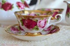 Royal Albert Old English Rose Treasure Chest by TheTeacupAttic