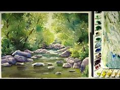 Snow on Trees in Watercolor - YouTube