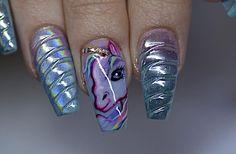 Unicorn nails #thenailboss