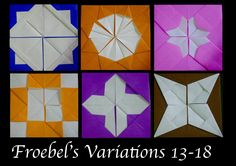 Origami Maniacs 197: Froebel's Variations 13-18