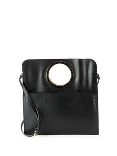 HALSTON HERITAGE Halston Leather Tote. #halstonheritage #bags #shoulder bags #hand bags #leather #tote #lining #