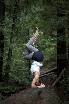 'Yoga teaches you how to listen to your body.'  ~Mariel Hemingway I'll try this pose tomoroow in the forest.