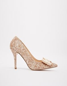Enlarge Carvela Chloe Glitter Courts with Bow