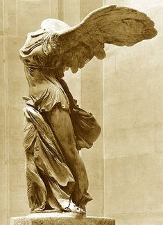 The Nike of Samothrace is an excellent example of Greek art. Found on an island in the north Aegean sea, the sculpture was built in honor of the Greek Goddess of victory, Nike.