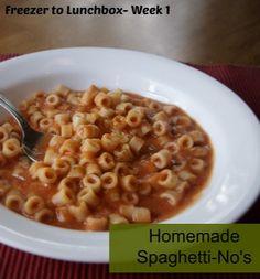 {Freezer to Lunchbox Series} Spaghetti-No's Recipe