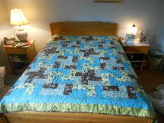 This is a quilt for a double size bed.  Selling for $350.00 includes if any shipping charges.