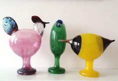 Art Of Glass, Art Thou, Ceramic Table, Glass Birds, Scandinavian Design, Decoration, Arts And Crafts, Pottery, Sculpture
