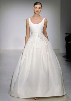 simple wedding dress by amsale, with a subtle sweet bow...  without bow if possible