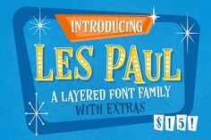 Les Paul • Font Family by Vintage Voyage Design Co. on @creativemarket