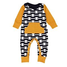 AMATM Newborn Toddler Baby Girl Boy Romper Jumpsuit Bodysuit Clothes Outfits 912M Yellow *** Want additional info? Click on the image. #life