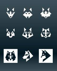 Wolf Logo vector art illustration