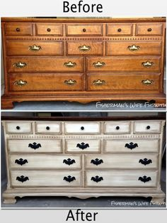 Fisherman's Wife Furniture: Painted, Distressed, Glazed Dresser & End Tables