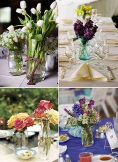 decorações simples para mesas