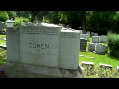 Leonard Cohen Resting Place, grave, tomb, Montreal Canada - YouTube