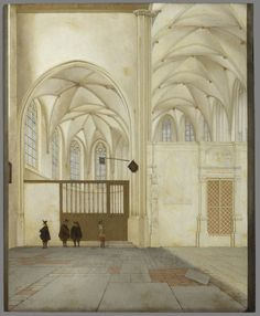 Pieter Jansz Saenredam, The North Aisle and Radiating Chapel of the Sint Janskerk in Utrecht (1655)