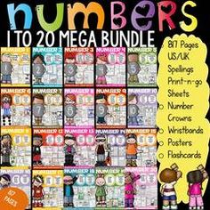 Enter for your chance to win this mega Number Sense Bundle - This 817 page+ resource helps build number recognition, formation and number sense for numbers 1 to 20. Currently valued at $27, you could win this for free! All the best :).  A GIVEAWAY promotion for NUMBERS: NUMBER SENSE: NUMBERS 1 - 20 from TeachToTell on TeachersNotebook.com (ends on 7-15-2016)