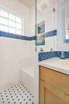 Blue and White Bathroom - traditional - bathroom - san francisco - Bill Fry Construction - Wm. H. Fry Const. Co.