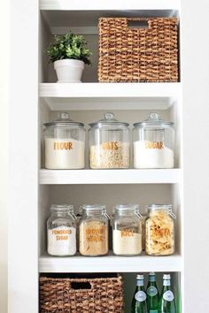 Free pantry labels printable and how to make open pantry shelves functional and pretty!