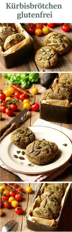 Rezept für glutenfreie Kürbisbrötchen mit Buchweizen- und Hanfmehl. Unsere leckersten Sonntagsbrötchen!