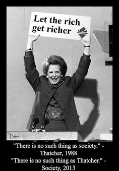 """Margaret Thatcher, bless her. Now in """"Heaven"""" with her bezzy mate Jimmy Savile."""