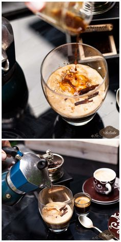 Salted Caramel Affogato- a true Italian treat! Ingredients: (for ◦Salted Caramel Ice-Cream or your favourite scoops ◦Freshly prepared espresso- 2 shots ◦Amaretto or Bailey's (optional) ◦Chocolate shavings or curls (optional) Frozen Desserts, Just Desserts, Delicious Desserts, Dessert Recipes, Yummy Food, Cocoa, Affogato, Nutrition, Non Alcoholic Drinks