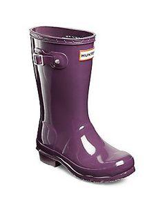 Hunter Kid's Rain Boots - Purple Urchin