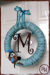 The Scrap Shoppe: Yarn Wreath with Mini Tutorial