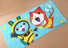 1pcs Yo-kai Watch Action Figure Plush Cosplay wash towel toy 60*120cm 250g Japan Anime Yokai Watch cosplay mantle medal Summer