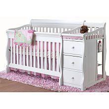 """Sorelle Princeton 4-in-1 Convertible Crib N Changer - White - C International - Babies """"R"""" Us"""