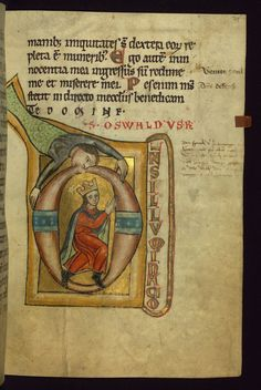 Psalter King Oswald Walters Manuscript W.78 fol. 29r by Walters Art Museum Illuminated Manuscripts