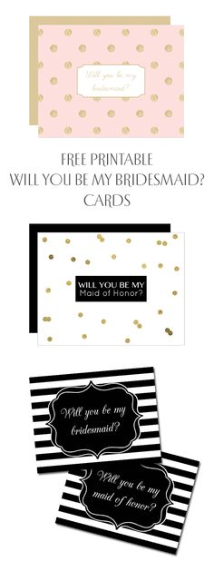 Ask your bridesmaids to be yours with our free printable will you be my bridesmaid cards! http://chicfetti.com/weddings/will-you-be-my-bridesmaid-cards/